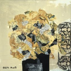 Edith_Monti_Hortensia_Egyptien_Technique_Mixte_40cmx40-cm_2017