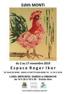 """Affiche de l'exposition l'""""Espace Roger Ikor"""""""
