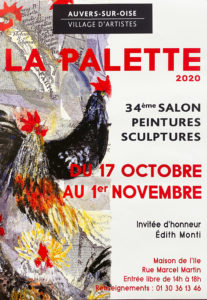 """Affiche de l'exposition """"La Palette"""" à Auvers-sur-Oise"""