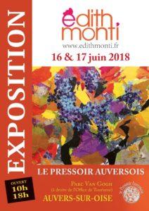"""Affiche de l'exposition au """"Pressoir auversois"""" / Juin 2018"""
